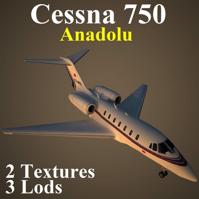 3d model cessna 750