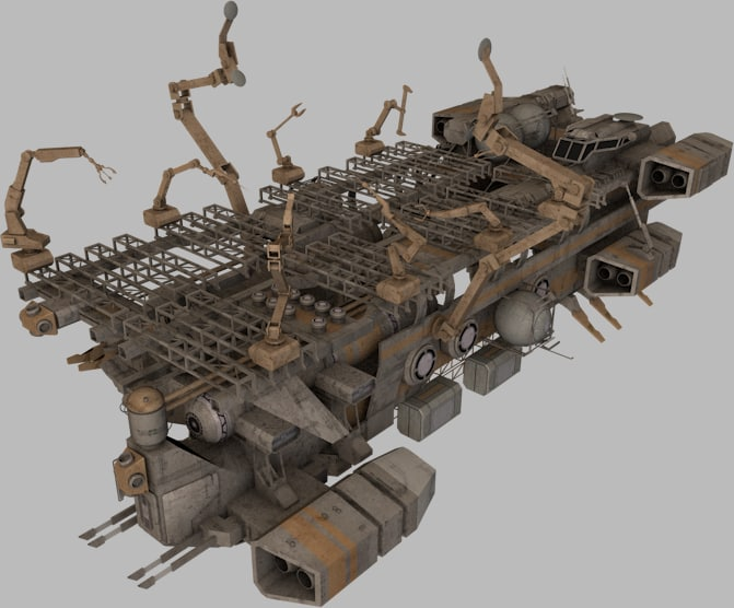 mobile shipyard 3d obj