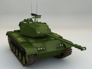 cinema4d tank m-41 walker bulldog