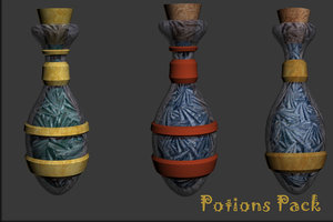 maya potions pack fantasy games