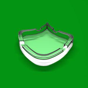 ashtray psycho 3d model