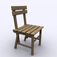 wooden chair 3d max