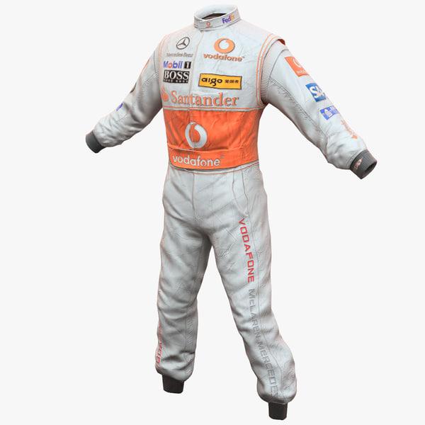 racing driver clothes 2 3d 3ds
