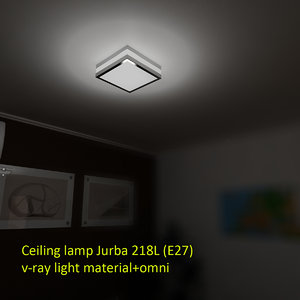3d model of ceiling lamp jurba 218l
