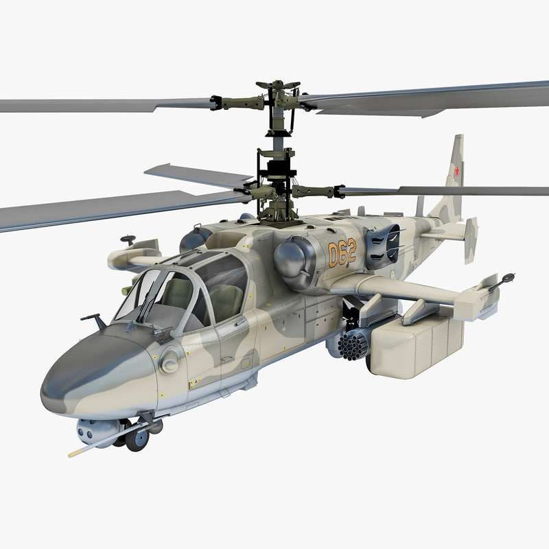 russian attack helicopter kamov 3d model
