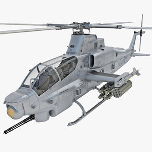 bell ah-1z viper helicopter 3ds