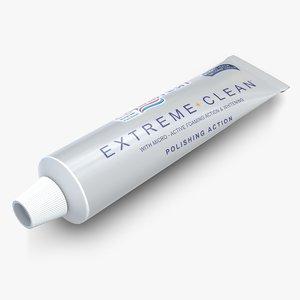 3d tube toothpaste 2 model