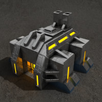 factory sci-fi building 3d model