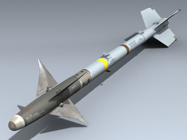 3d missile fighter aircraft