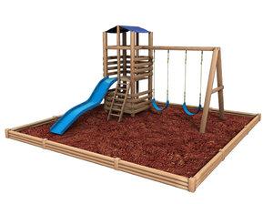 backyard playset 3d obj