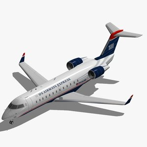 bombardier crj-200 airways express 3ds