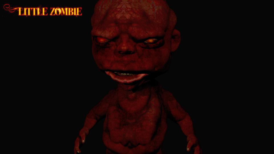 dwarf zombie 3d obj