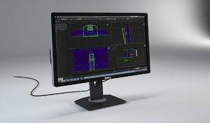 3d monitor dell u2412m