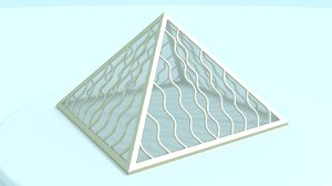 3d model small pyramid
