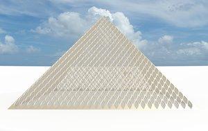 big leaf pyramid 3d obj