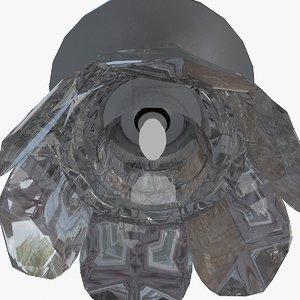 3d ceiling cristal spot patia model