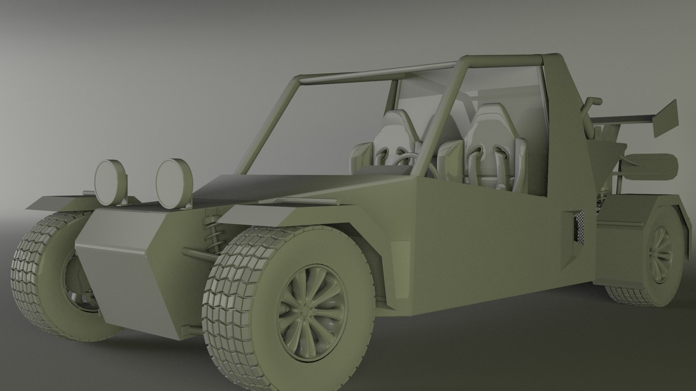 buggy car 3d model