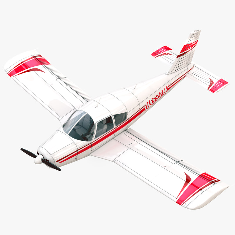 3d model piper cherokee pa-28 light