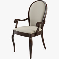 3d dinner chair wood model