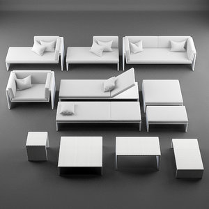 3ds max lounge furniture slimline
