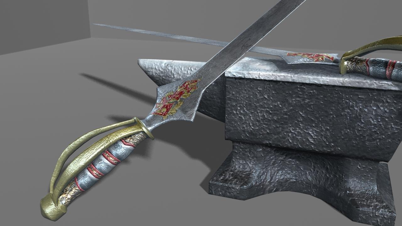 sword anvil 3d ma