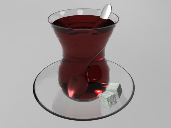 3d turkish tea
