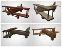 Wooden Aircraft Toy Set