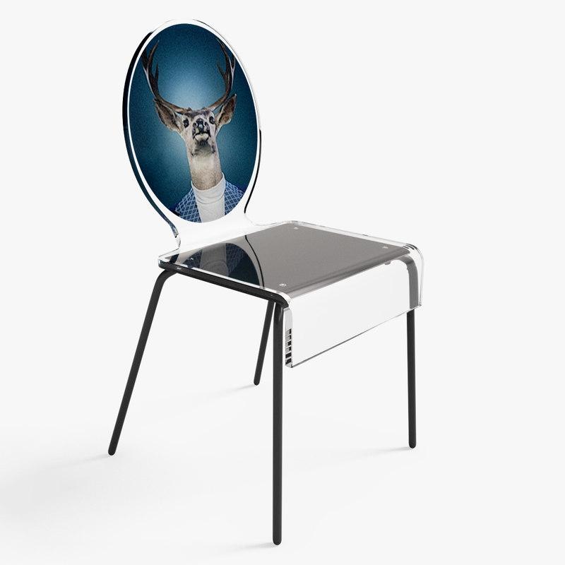 free cerf chair 3d model