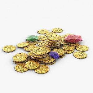 coins gems 3d