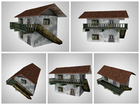 small house 3d obj