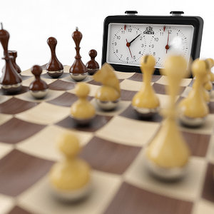 wooden wobble chess set 3d 3ds