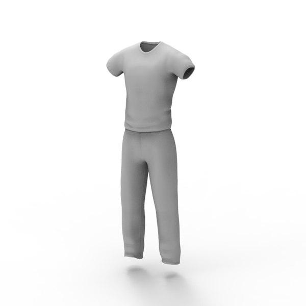3d model man clothes