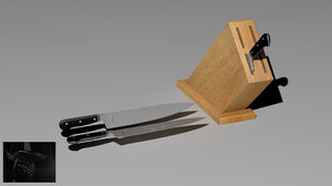 knife holder 3d model