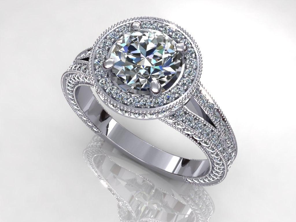 3d great diamond ring