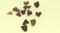 3d wooden teaser model