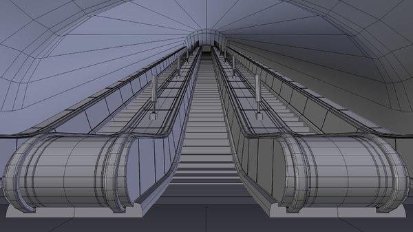 underground escalator 3ds