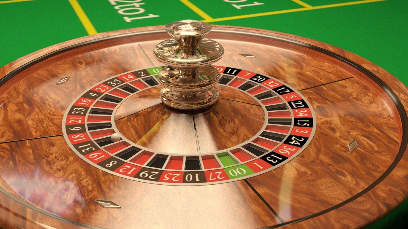 roulette casino 3d model