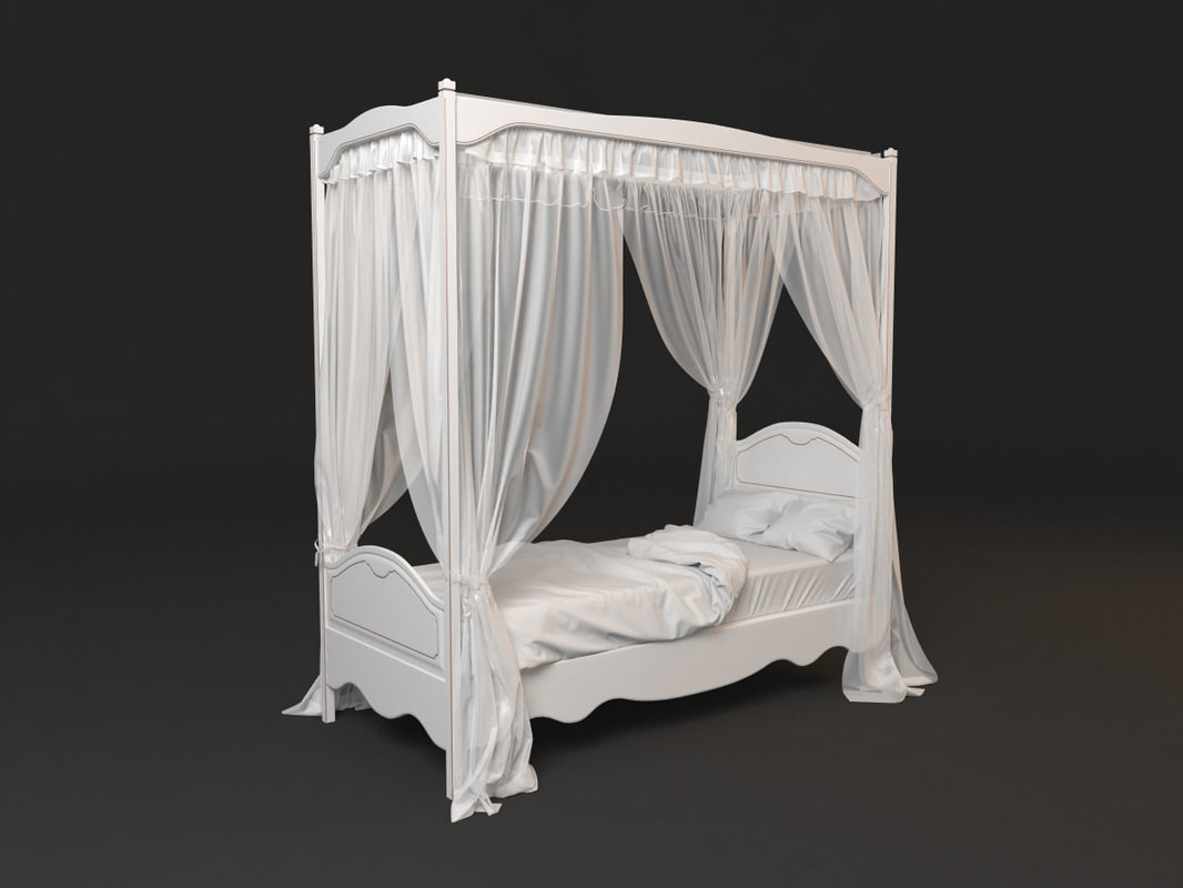 bed curtain 3d max