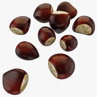 chestnut 2 nut 3d max