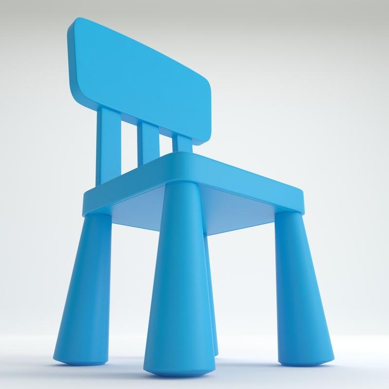 mammut chair ikea 3d model