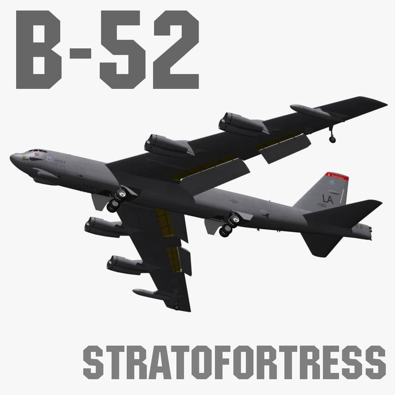 b-52h stratofortress 3d fbx