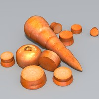 3d carrot sliced