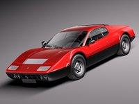 3d car classic sport 1973 model