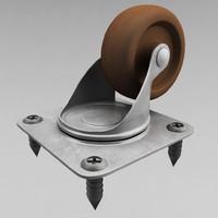 3d model cabinet wheel