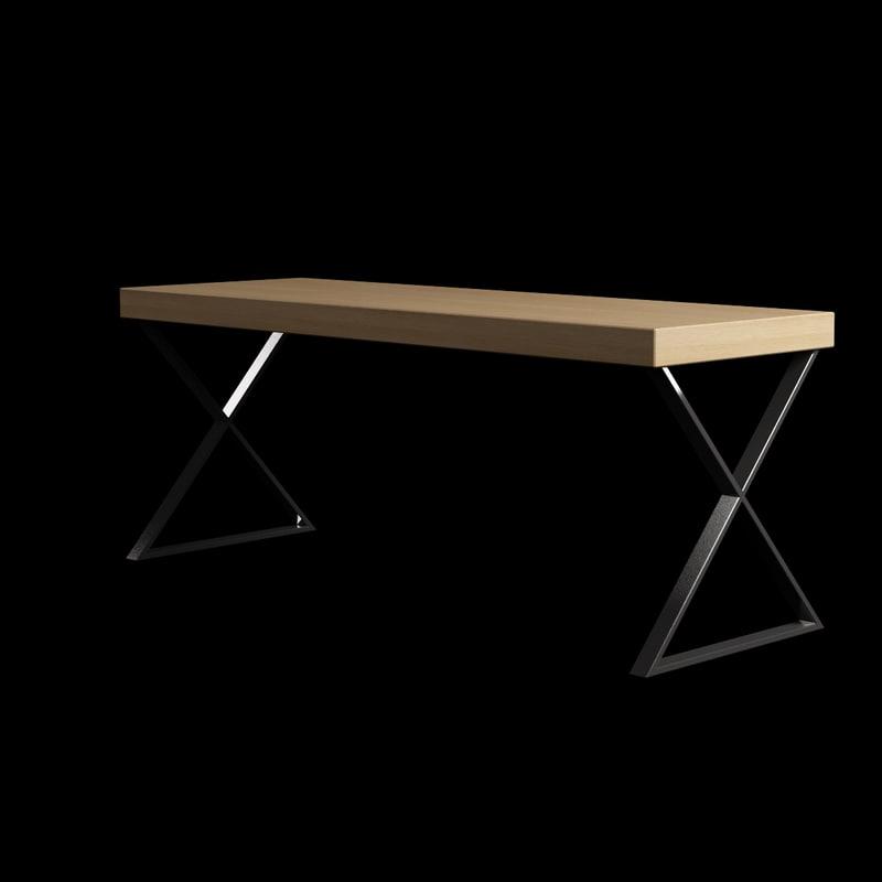 obj living room table wood