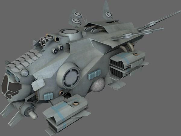 interceptor spaceships 3d 3ds