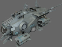 3d interceptor spaceships model