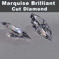 3ds marquise brilliant cut diamonds