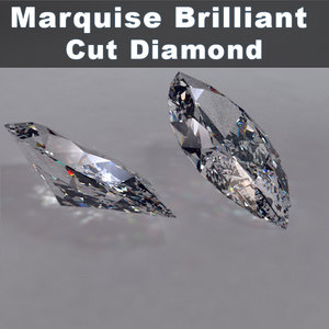 3ds marquise brilliant cut diamonds