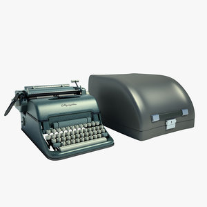 3ds max olympia typewriter
